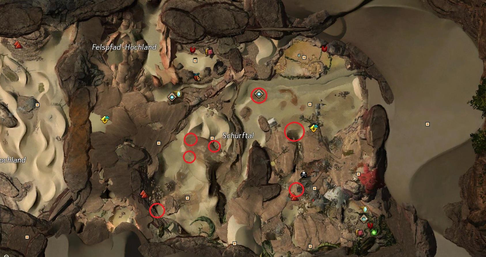 Die Suche nach vergrabenen Schätzen Schürftal
