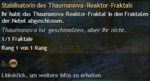 Stabilisatorin des Thaumanova-Reaktor-Fraktals