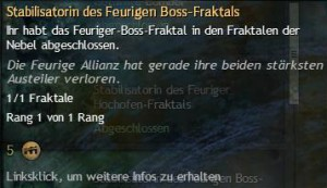 Stabilisatorindes Freurigen Boss-Fraktals