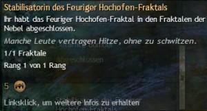 Stabilisatorindes Freurigen Hochofen-Fraktal