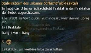Stabilisatorindes Urbanes Schlachtfeld-Fraktal