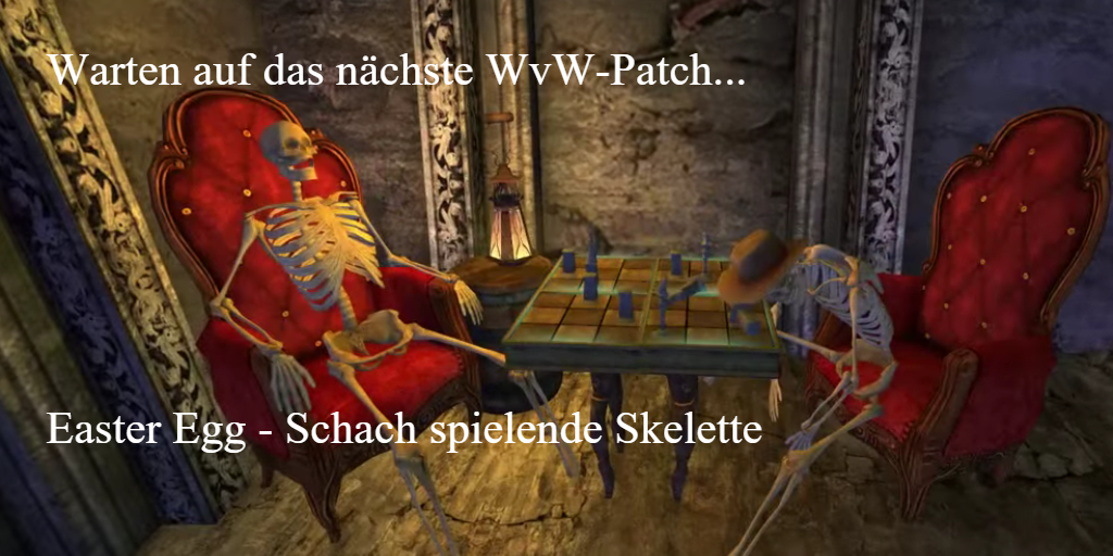 Photo of Easter Egg: Schach spielende Skelette