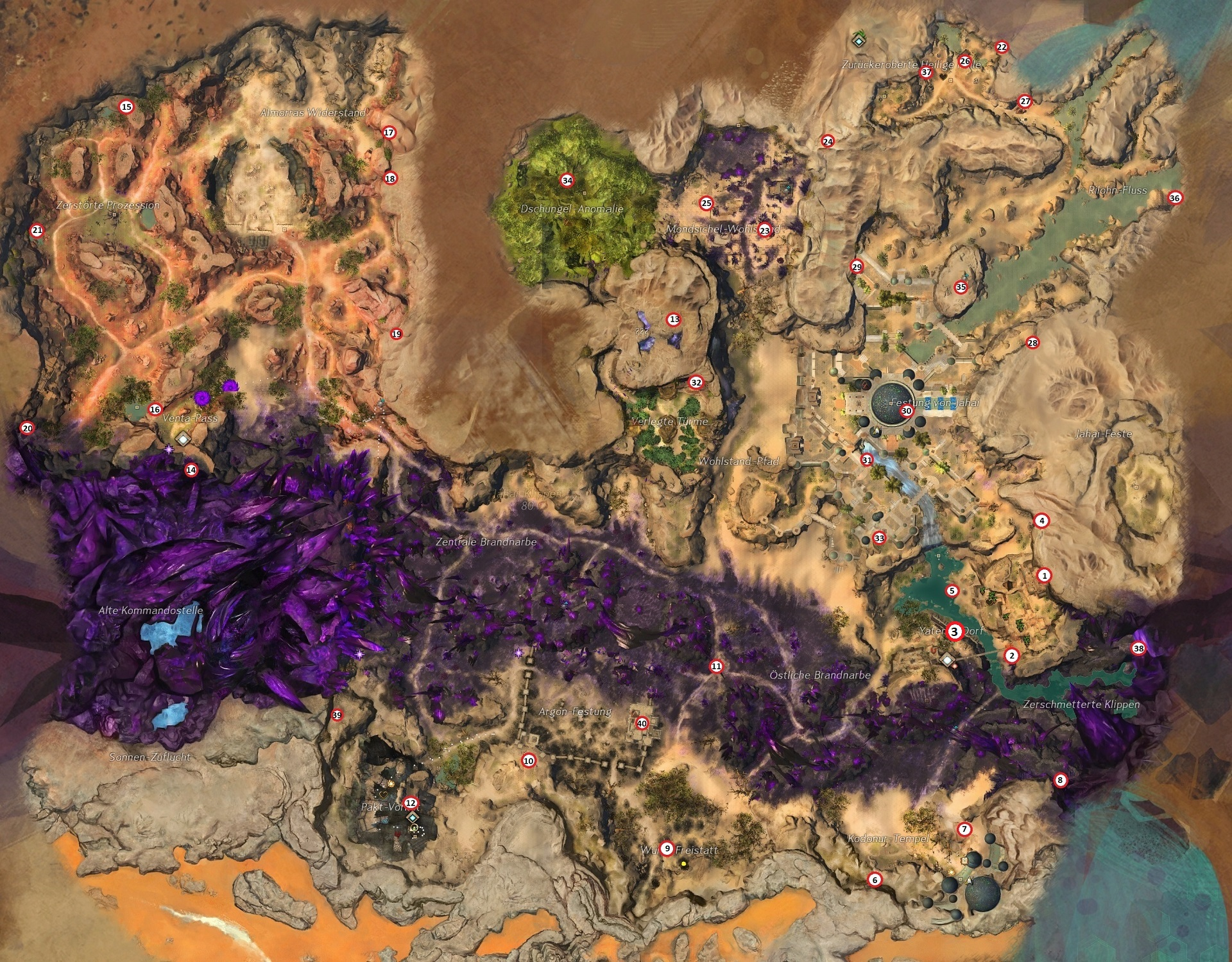 Gw2 Karte.Unser Leitstern Der Große Guide Münzen Von Jahai Guildnews