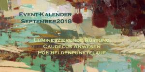 Event-Kalender für den Sptember 2018