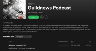 Guildnews Podcast nun auch auf Spotify