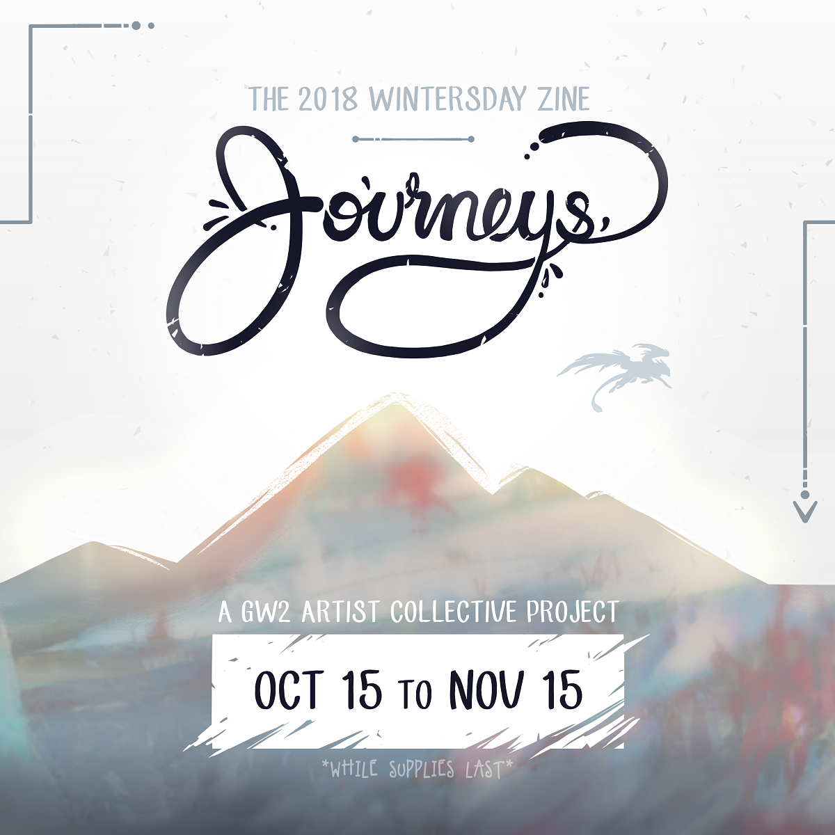 "euer Exemplar des Wintertag-Magazins ""Journeys"""