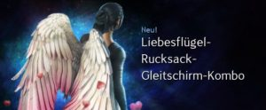 Liebesflügel-Rucksack-Gleitschirm-Kombo
