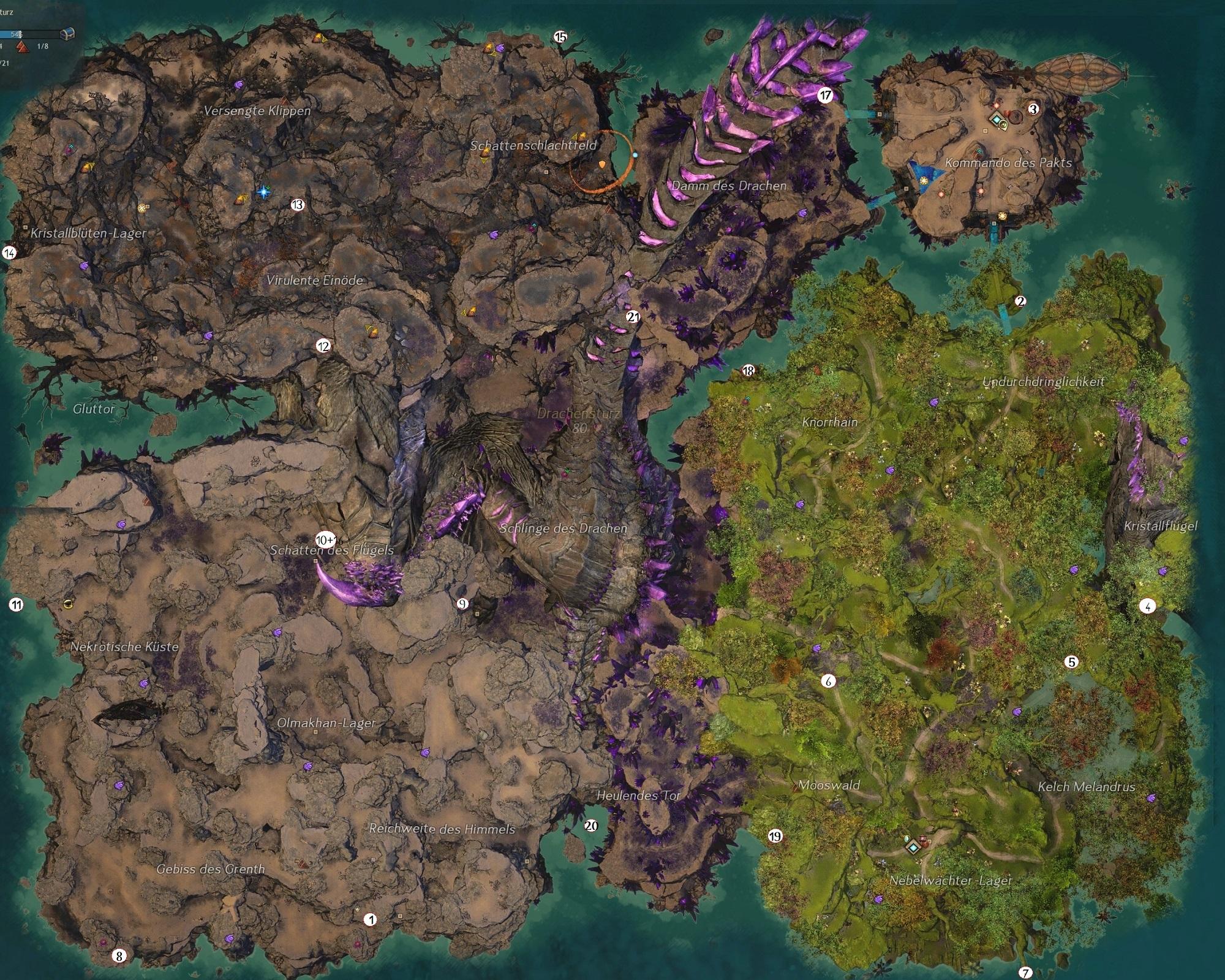 Gw2 Karte.Ewiger Krieg Der Große Guide Das Neue Mount Himmelsschuppe