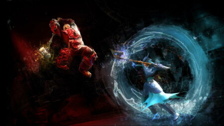 Zwei Kämpfende Charaktere mit PvP-Spielbalance am 06.04