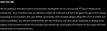 Beschreibung der Stellenbeschreibung zum Animation Lead