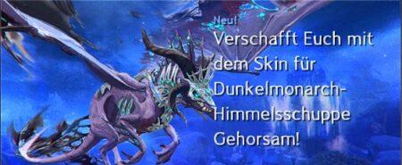 Dunkelmonarch-Himmelsschuppe