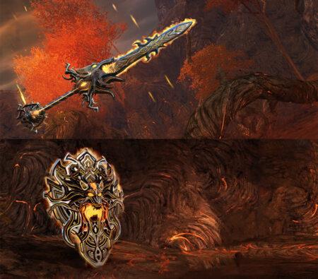 Wolfherz-Schwert & -Schild