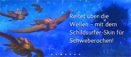 Schildsurfer Schweberochen