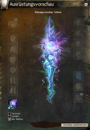 Schimmernde Aurora-Waffen