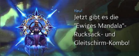 """Die """"Ewiges Mandela""""-Rucksack und Gleitschirm-Kombo ist neu im Edelsteinshop von Guild Wars 2 erhältlich."""