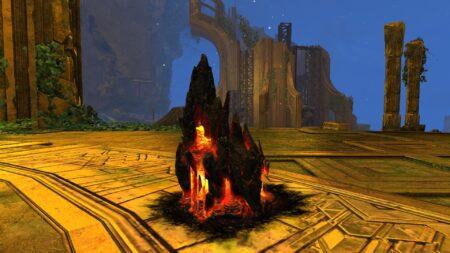 Bild von Vulkanischer Thron von hinten