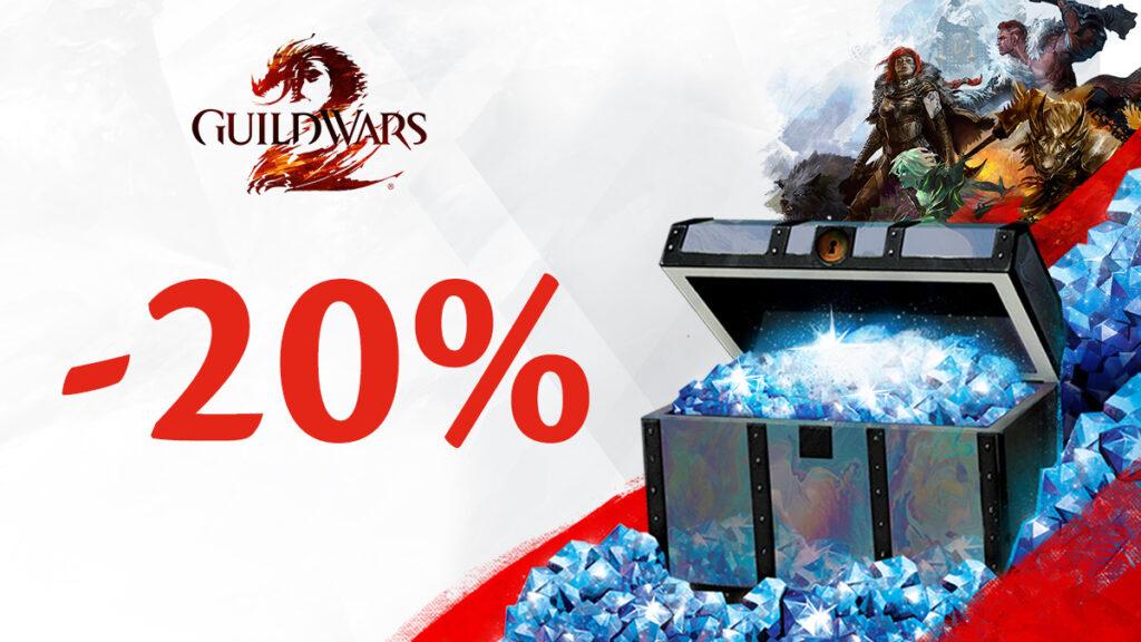 20% Rabatt auf GW2 GemCards