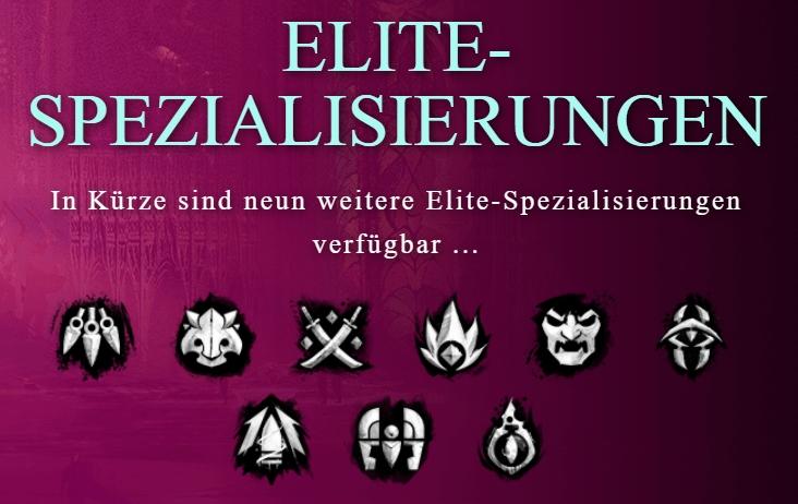 Übersicht über Elite-Spezialisierungen