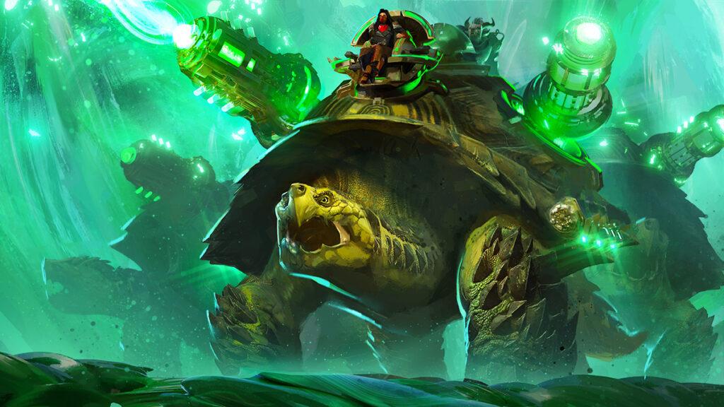 Artwork zur Belagerungsschildkröte