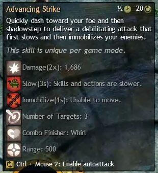 """Beschreibung von """"Advancing Strike"""" aus dem Guild Chat zum Willensverdreher"""