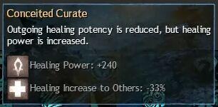 """Beschreibung von """"Conceited Curate"""" aus dem Guild Chat zum Willensverdreher"""