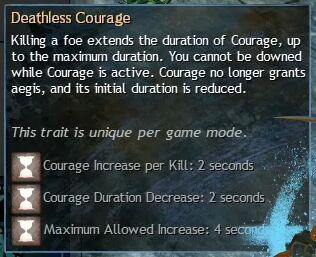"""Beschreibung von """"Deathless Courage"""" aus dem Guild Chat zum Willensverdreher"""