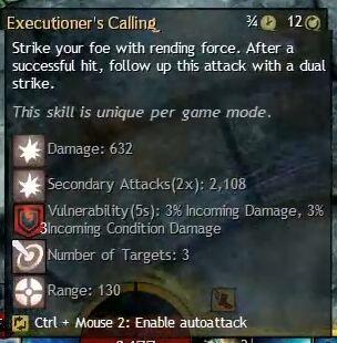 """Beschreibung von """"Executioner's Calling"""" aus dem Guild Chat zum Willensverdreher"""