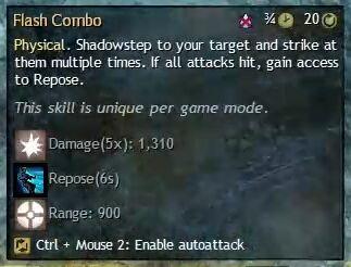 """Beschreibung von """"Flash Combo"""" aus dem Guild Chat zum Willensverdreher"""