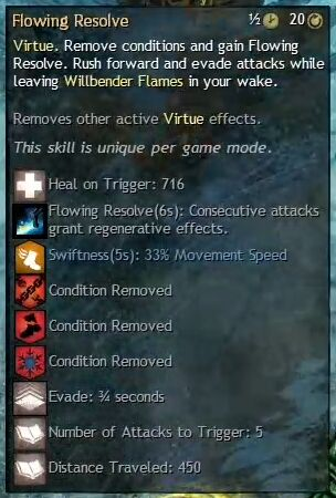 """Beschreibung von """"Flowing Resolve"""" aus dem Guild Chat zum Willensverdreher"""