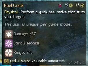 """Beschreibung von """"Heel Crack"""" aus dem Guild Chat zum Willensverdreher"""