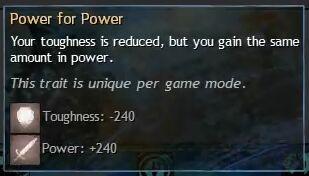 """Beschreibung von """"Power for Power"""" aus dem Guild Chat zum Willensverdreher"""