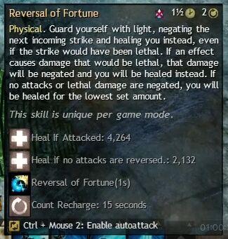 """Beschreibung von """"Reversal of Fortune"""" aus dem Guild Chat zum Willensverdreher"""