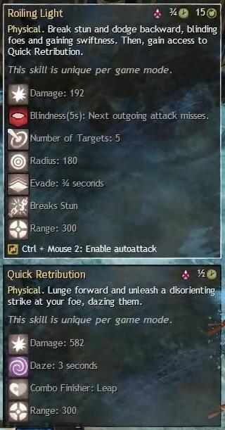 """Beschreibung von """"Roiling Light"""" und """"Quick Retribution"""" aus dem Guild Chat zum Willensverdreher"""