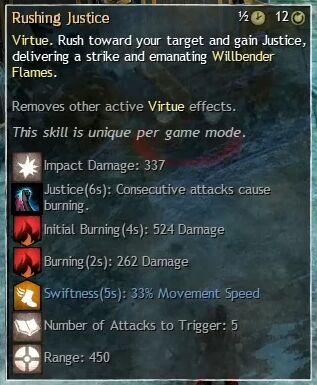 """Beschreibung von """"Rushing Justice"""" aus dem Guild Chat zum Willensverdreher"""