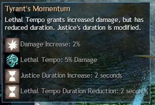 """Beschreibung von """"Tyrant's Momentum"""" aus dem Guild Chat zum Willensverdreher"""