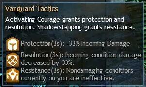 """Beschreibung von """"Vanguard Tactics"""" aus dem Guild Chat zum Willensverdreher"""