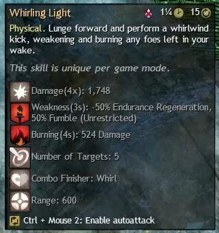 """Beschreibung von """"Whirling Light"""" aus dem Guild Chat zum Willensverdreher"""